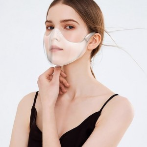 Anti-spray Half Cover Face Shield Mask Reusable Anti Dust Unisex Plastic Visible Mask