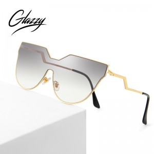 2021 New Metal Frame Irregular Sunglasses Women Clear Oversized Shades Sunglasses