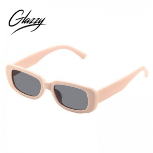 2021 Small Rectangle Sunglasses Women Vintage Tortoiseshell Sunglasses
