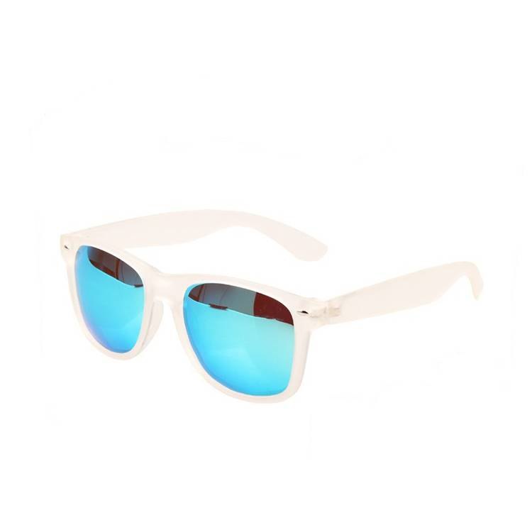 Clear frame blue mirror lens polarized sunglasses 2015