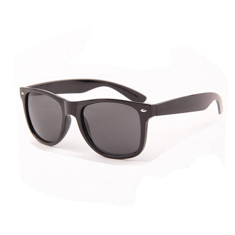Discountable price Promotional Bamboo Sunglasses - custom logo made plastic black sunglasses – Baolai