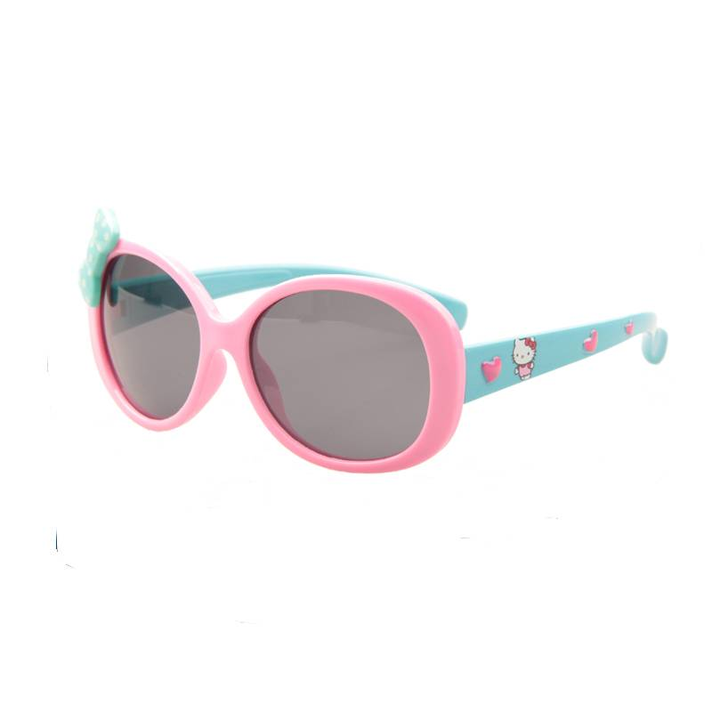 pink kids rubber kawaii polarized sunglasses