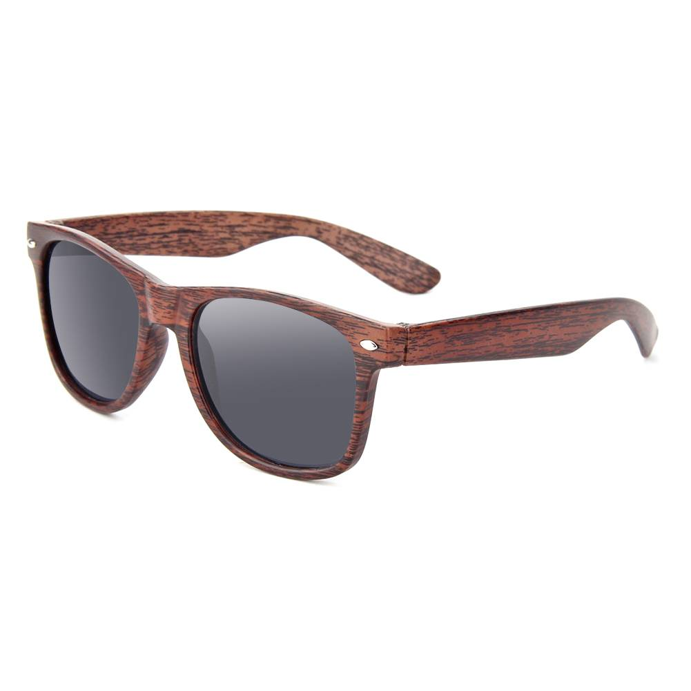 OEM China Plastic Sunglasses Promotional Suppliers –  Wooden Texture PC frame designer eyewear real wood unisex sunglasses polarized lens UV 400 promotional sun glasses – Baolai