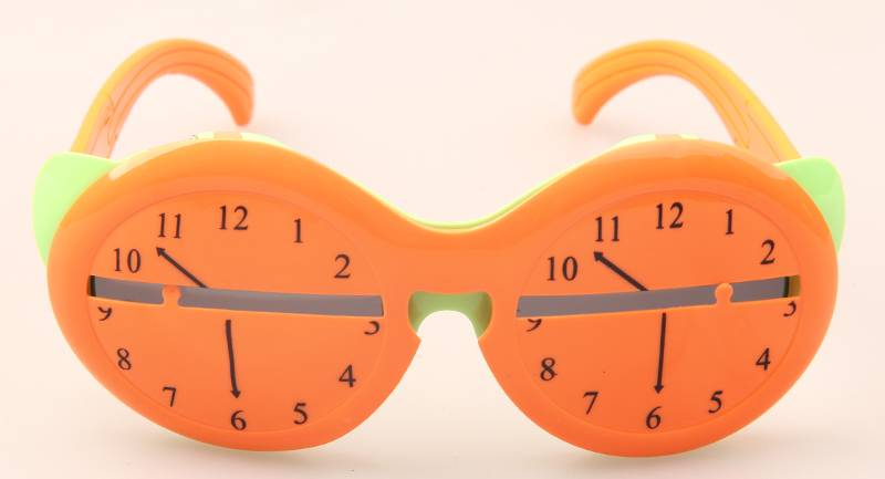 Glazzy Top quality clock frame rubber cute kids sun glasses polarized custom party sunglasses