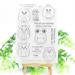 High Quality Gift Set Promotion Clear Stamp for Card Making