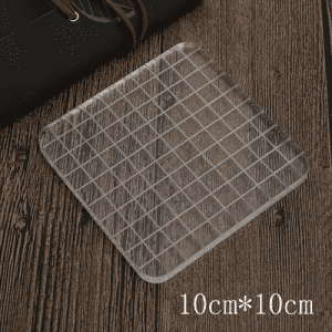 Acrylic Clear Stamps Block with Grids and Grips for Scrapbooking