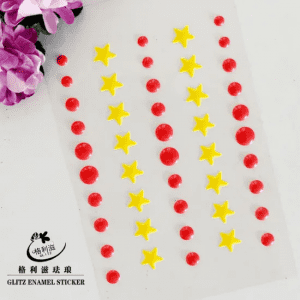 Chinese Professional Glitter Paper Rose - Enamel Sticker with Multi Colors – Glitz Creatif