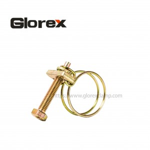 Factory Cheap 3in Pipe Clamp - Double wire hose clamp – Glorex