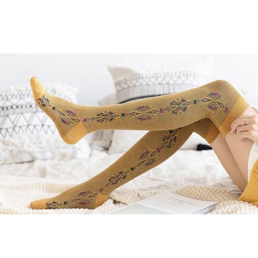100% Original Factory Cozy Reading Socks - Female Over Knee High Socks – item#WKS2032 –  SHUN SHUI Featured Image