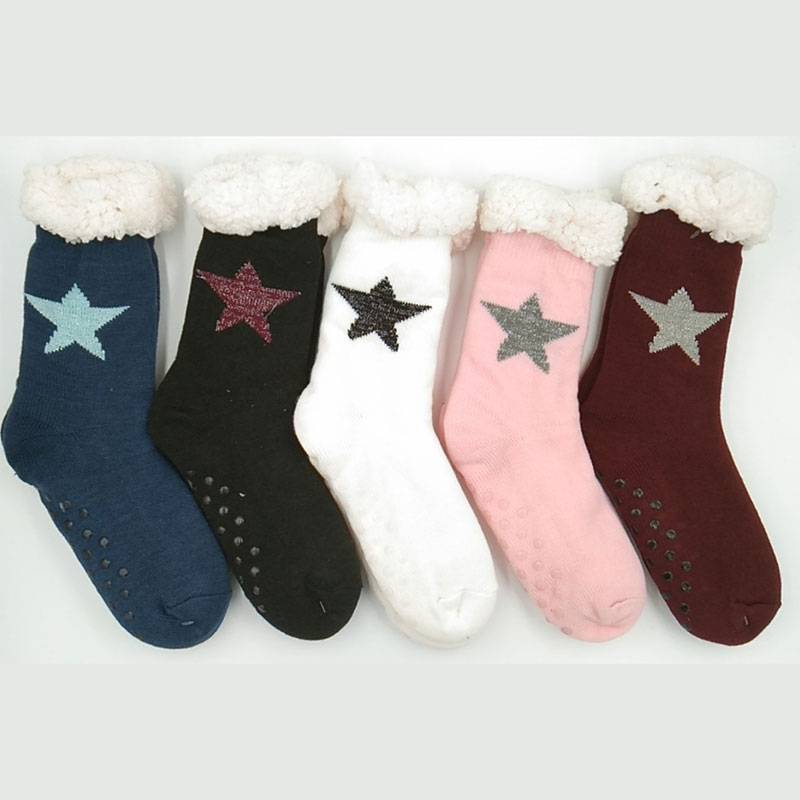 Factory Price For Halloween Fluffy Socks - Teddy Socks – item#WKS2037-42 –  SHUN SHUI Featured Image