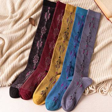 2020 Good Quality Womens Santa Socks 3 Pack - Female Over Knee High Socks – item#WKS2032 –  SHUN SHUI detail pictures