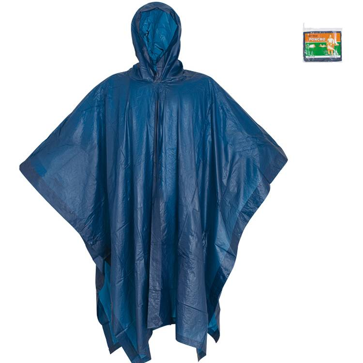Reusable PVC Hooded Rain Poncho For Adults Featured Image