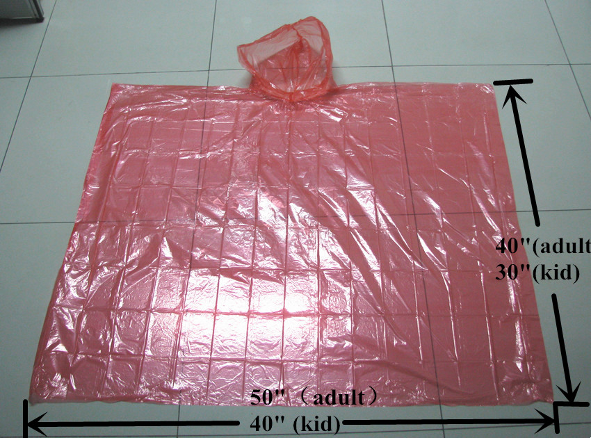 China Wholesale Emergency Poncho Suppliers - Colorful Disposable LDPE Rain Ponchos – Tengxing
