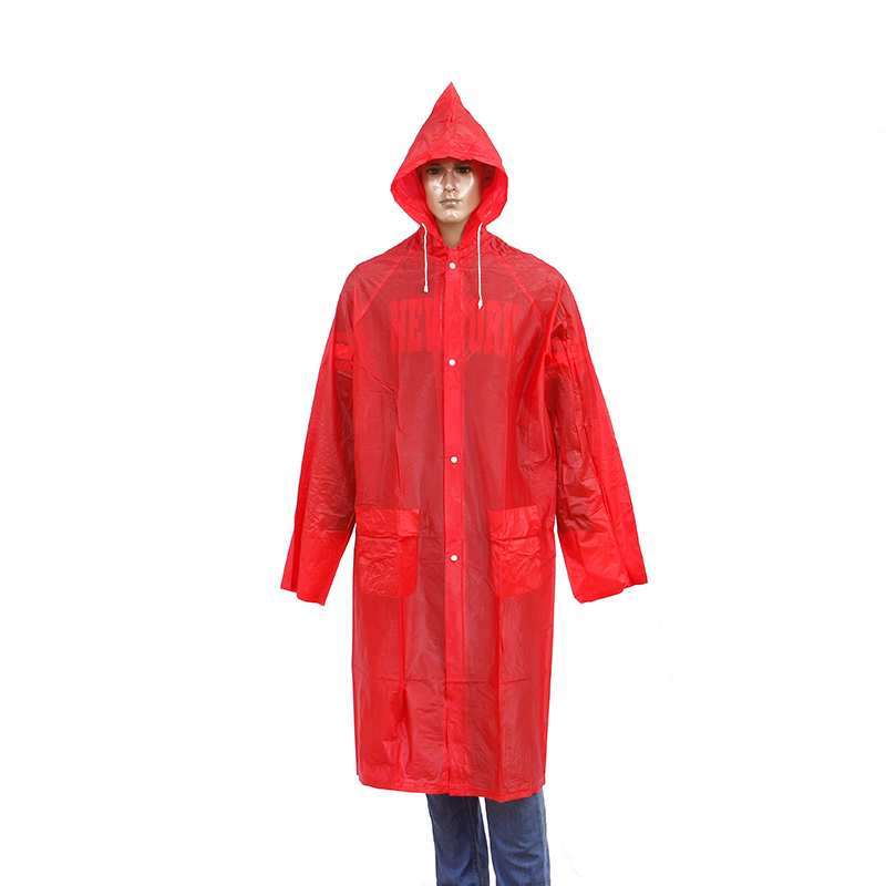 long pvc reusable raincoat
