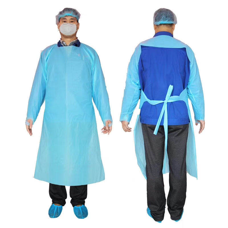 Disposable Plastic CPE Aprons With CE And FDA