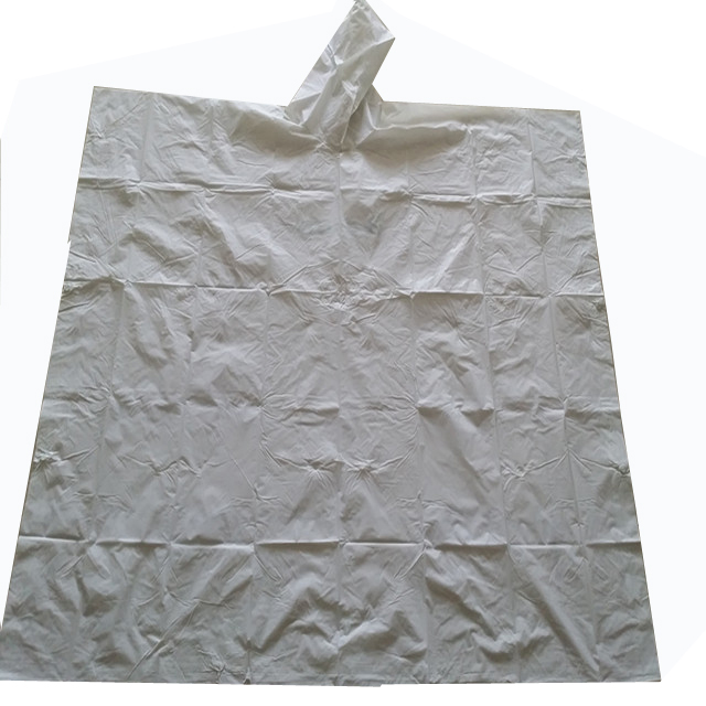 Eco-friendly compostable material disposable  rain poncho