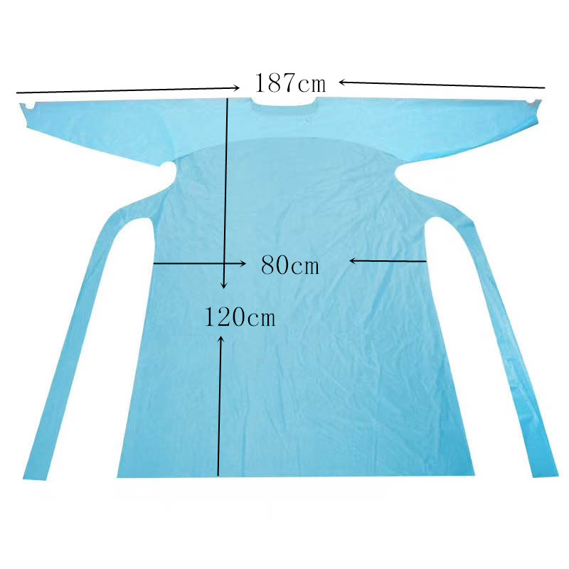 Waterproof apron disposable isolation gown