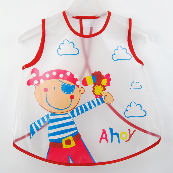 Wholesale cartoon children's apron PEVA fed clothing
