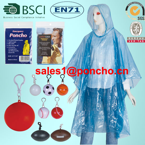 China Wholesale Poncho With Hood Suppliers - Disposable PE Rain Poncho Raincoat In Ball – Tengxing