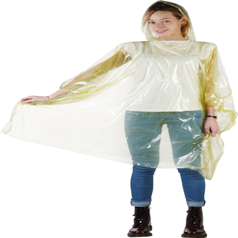 China Wholesale Pvc Rain Coat Manufacturer - Plastic Colorful Disposable PE Disposable Poncho – Tengxing