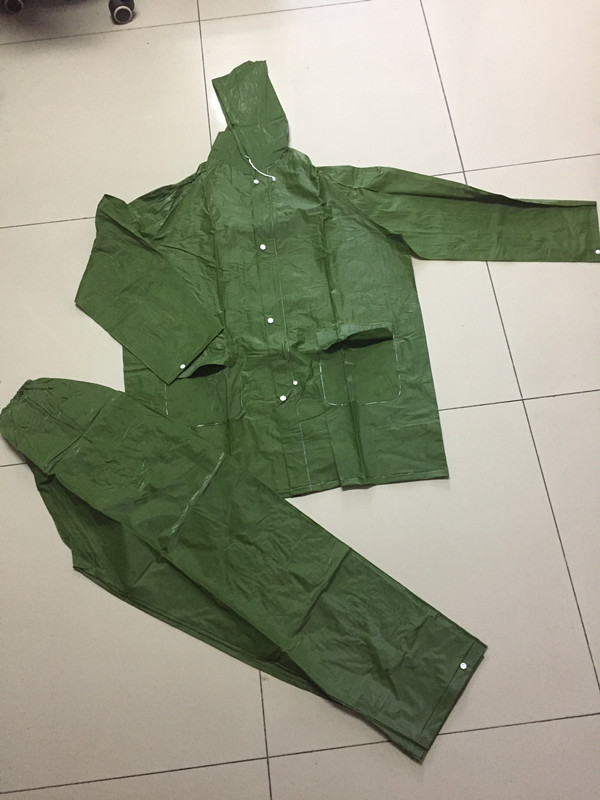 China Wholesale Durable Raincoat Suppliers - durable army green raincoat with pant – Tengxing