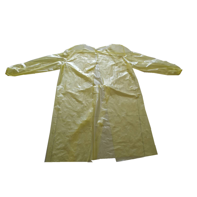 China Wholesale Non Woven Isolation Clothes Manufacturer - yellow color disposable isolation gown – Tengxing