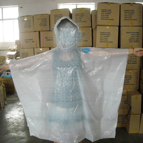 Hot Sale Clear Emergency PE Rain Poncho