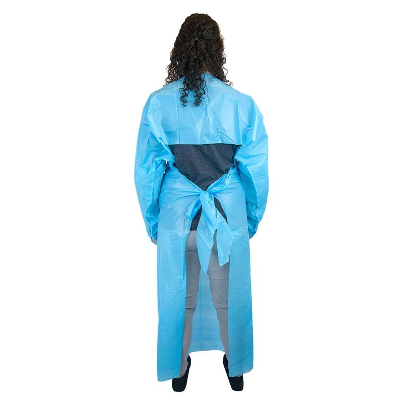 China Wholesale Disposable Protective Clothes Factories - Disposable Polyethylene Gown with Thumb Loops Blue Apron – Tengxing