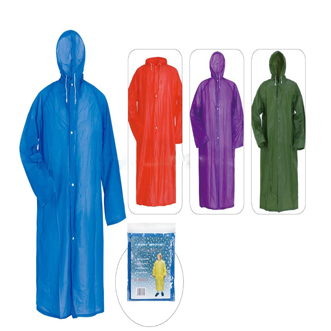 China Wholesale Clear Raincoat Factories - Promotional PVC ladies raincoat with logo For rain – Tengxing