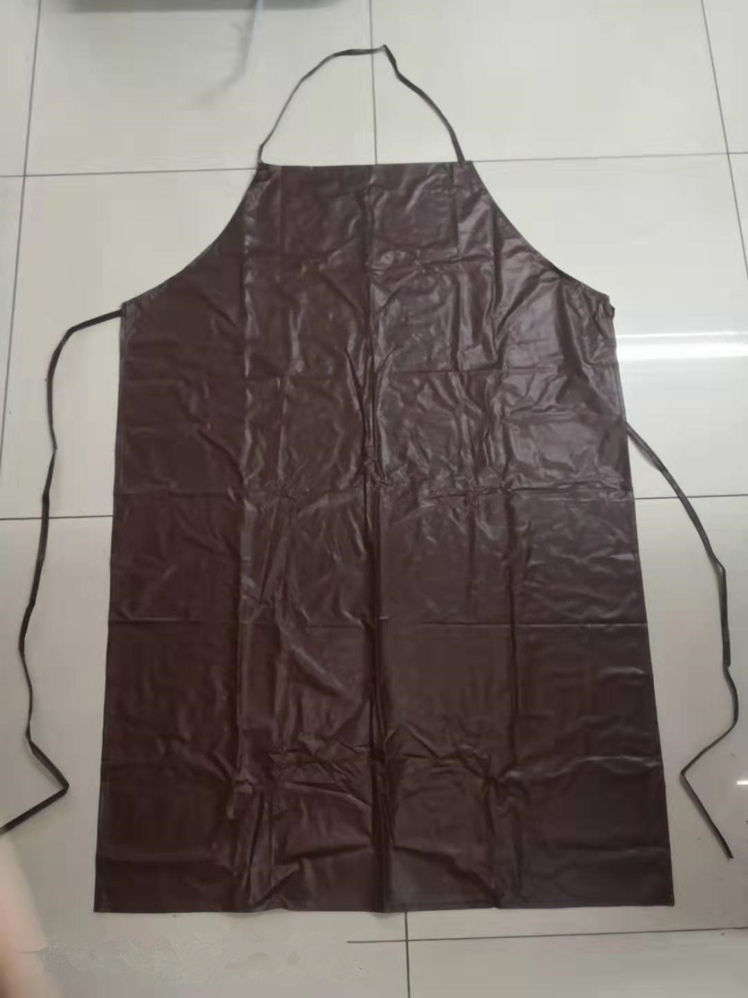 China Wholesale Heavy Duty Pvc Rain Poncho Manufacturers - brown pvc waterproof  apron for working kitchen – Tengxing