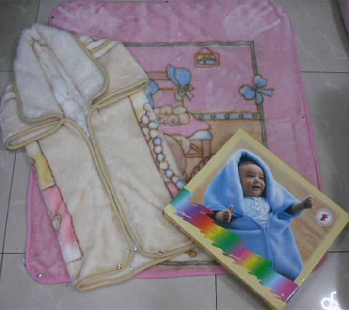 Polyester warm baby sac blanket