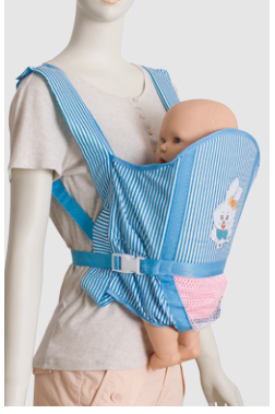 China Wholesale Children Bed Nets Manufacturer - Promotional Folded blue color Baby carrier – Tengxing