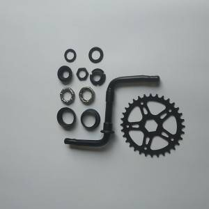 Bicycle Conjoined Crank 89mm Bicycle Crank Bicycle Parts For Mtb Aluminum Alloy Single Speed Bicycle Crank Set