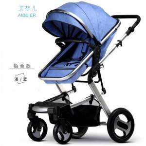 Hot sale China factory good quality light weight one hand auto folding 3 in 1 baby stroller car seat