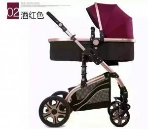 Good quality luxury child safety portable light weight foldable baby pram