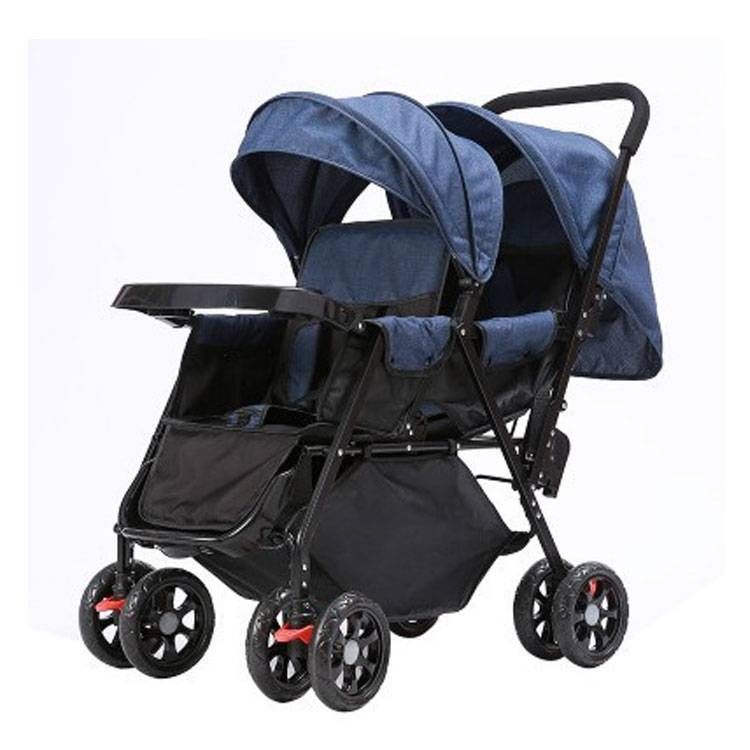 large wheels stroller for baby twins/multi function baby stroller twin suitable for all terrain / twin pram double baby seat