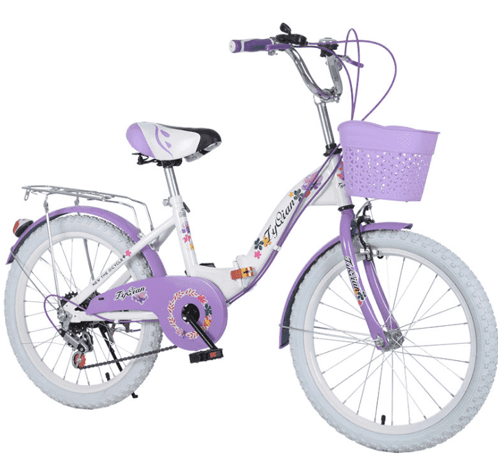 Children's buggy 18-22 inches folding children's 6 speeds bicycle girl princess school students folding bike