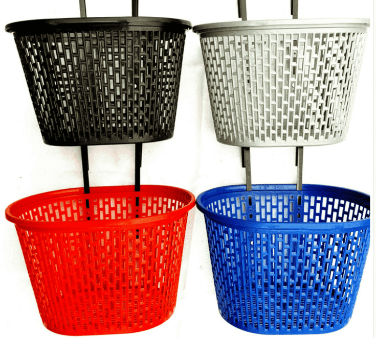 cute kids plastic bicycle basket bike basket