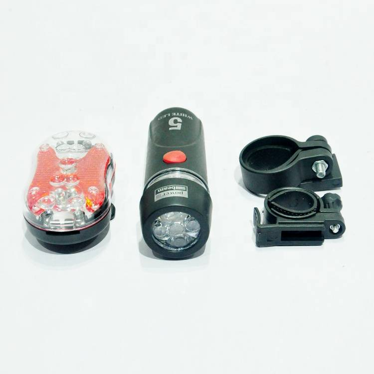 flashlight on bicycle/ spare lamp for children bike light factory cheap sale