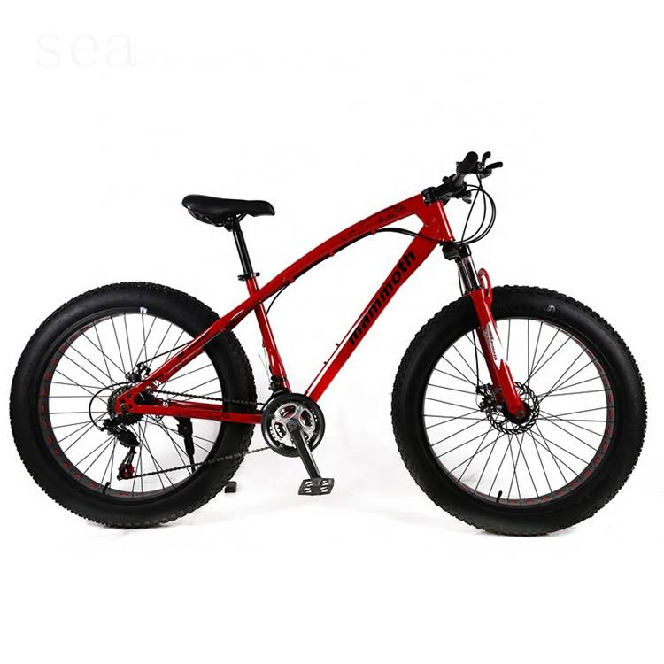 Factory wholesale price MTB snow bike with suspension fork / quad tandem fat bike wheels 26 / aluminum rim fat boy fat bike