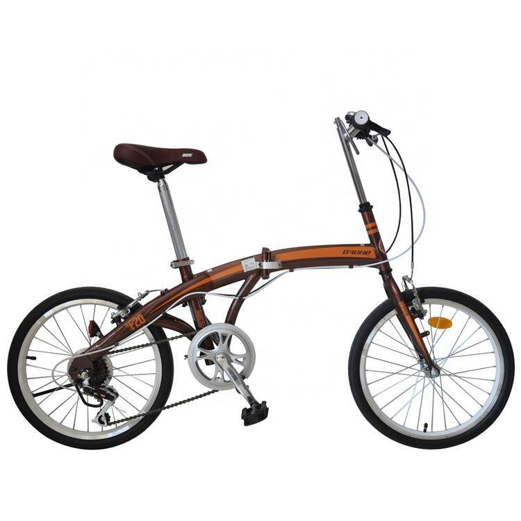 7 speed lightweight cheap folding bikes/20 inch Aluminum Fork Material folding bicycle/folding bike disc brake