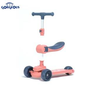 Cheap PriceList for Scooter With Flashing Wheels - Kids scooter kick foot scooters kids 3 wheel drift trike scooter for kids two wheels  –  Gorgeous Bike
