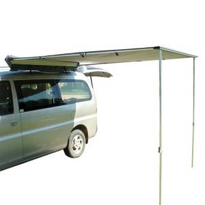 Camping Car Roof Top Tent with side awning