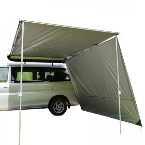 Car roof side awning
