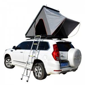 New design triangle roof hard shell 2 person aluminum car roof top tent