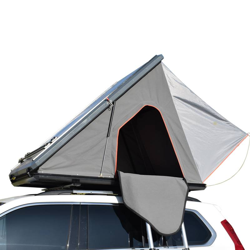 China wholesale 4×4 Camping Car Camping Roof Top Tent -  New design triangle roof hard shell 2 person aluminum car roof top tent – Arcadia detail pictures
