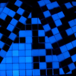 Luminous glass mosaics
