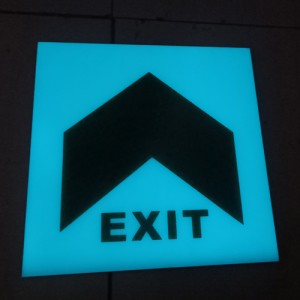 Floor embedded luminescent evacuation sign / lu...