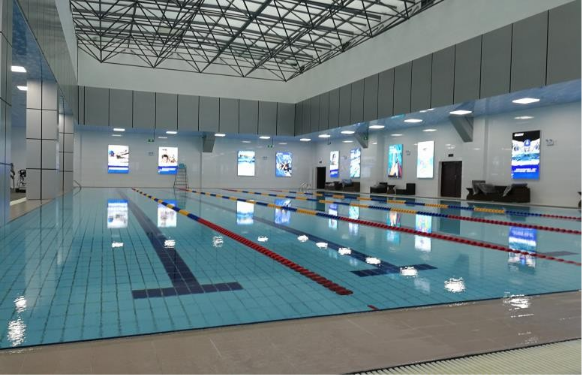 25m *12.5m *1.8 m indoor temperature-controlled swimming pool equipment system project