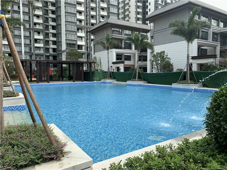 Outdoor swimming pool project case